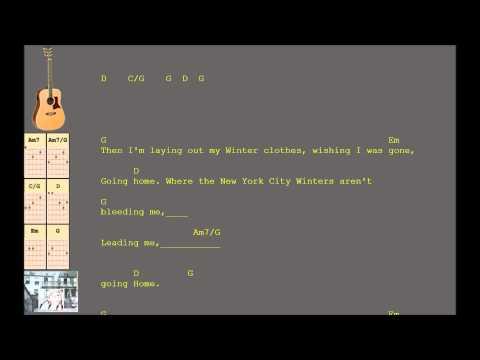 The Boxer Simon and Garfunkel cover version (Key B)