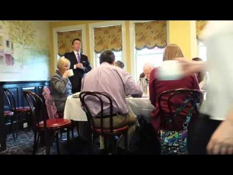 The City of Rye's new police commissioner, Michael C. Corcoran Jr., spoke to the Rye Rotary Club on Thursday about his first eight weeks on the job. Here is a video clip from the 25-year New Jersey police officer's talk at Ruby's Oyster Bar & Bistro.