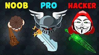 NOOB vs PRO vs HACKER - EvoWars.io