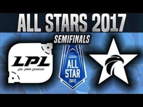LPL vs LCK - Game 1 - 2017 All-Star Semifinals - China vs Korea G1 League of Legends All-Star 2017