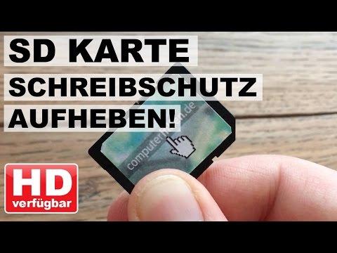 SD Karte Schreibschutz Aufheben!