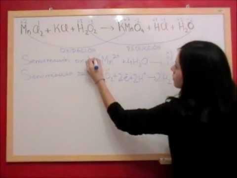 QUIMICA REDOX E14 Ajuste reacción en medio ácido MnCl2 + H2O2
