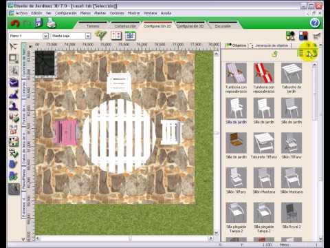 Dise o jardines 3d 7 0 tutorial video 4 mobiliario - Diseno jardines 3d ...