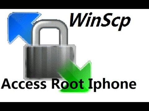 how to ssh iphone using winscp