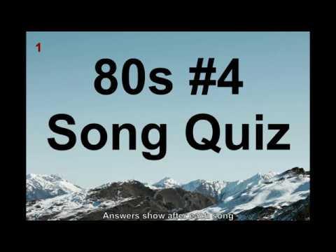 Name That Song! 80s Music Quiz #4 (QNTSQ)