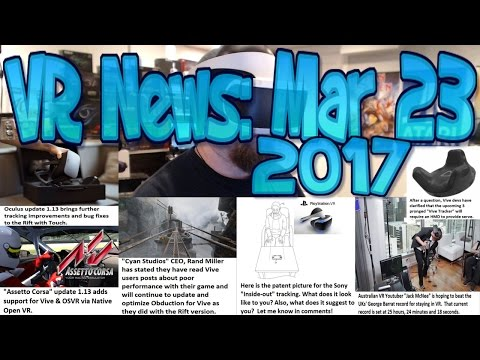 VR News: Mar 23 2017 - HTC Tracker REQUIRES Vive Headset - Oculus Update 1.13 Tracking & Bugs!