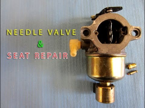 prevent flooding needle valve \u0026 seat replacement on briggs lawnBrigg Stratton Lawn Mower Carburetor Float Valve Diagram #16