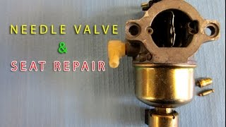 PREVENT FLOODING -Needle Valve & Seat Replacement On Briggs Lawn Tractor Carburetor