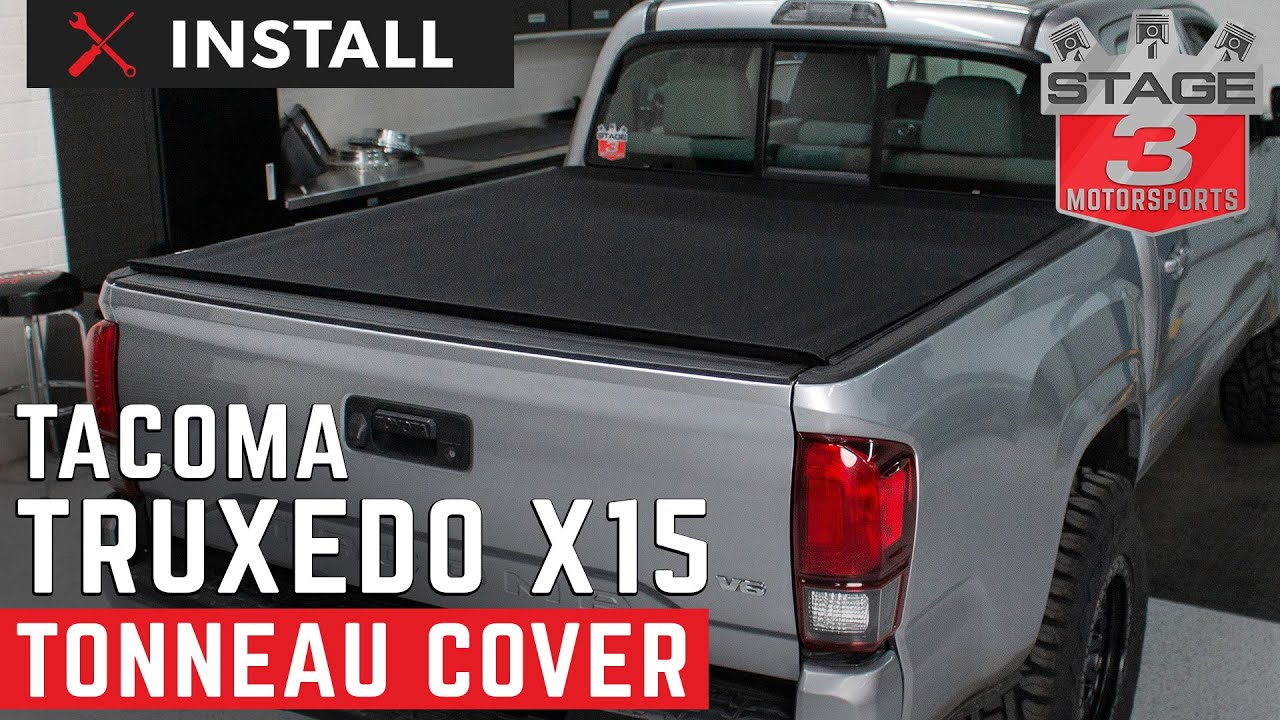 2016 2020 Toyota Tacoma Truxedo Pro X15 Rolling Tonneau Cover Install Youtube