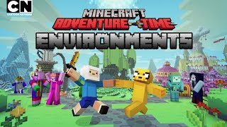 CN Playin | Adventure Time Minecraft: Environments Overview | Cartoon Network