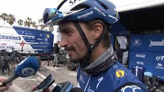 Julian Alaphilippe -  interview d'avant course - Milan-Sanremo 2019