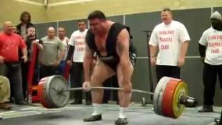 Мировой рекорд в становой тяге Болтон 457кг