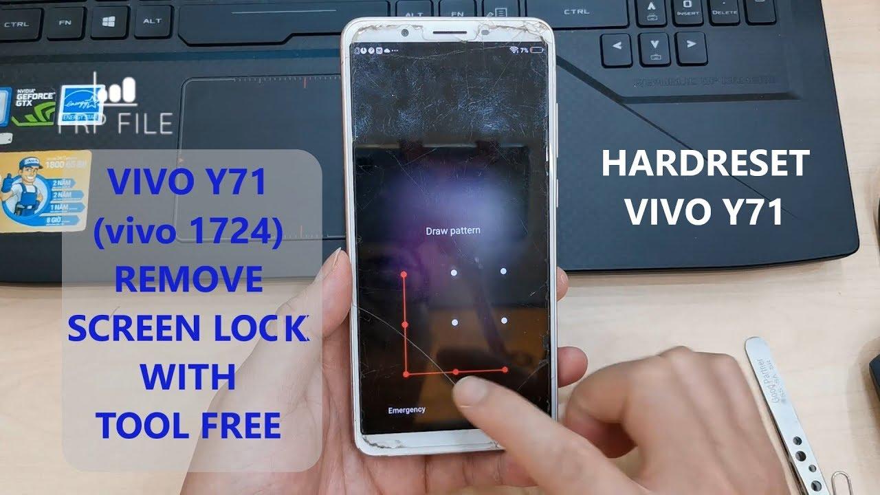 Vivo Y71 (vivo 1724) Qualcomm Screen Lock Remove without box