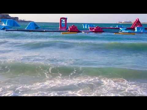 High Waves in Sea - Marina Beach Dubai