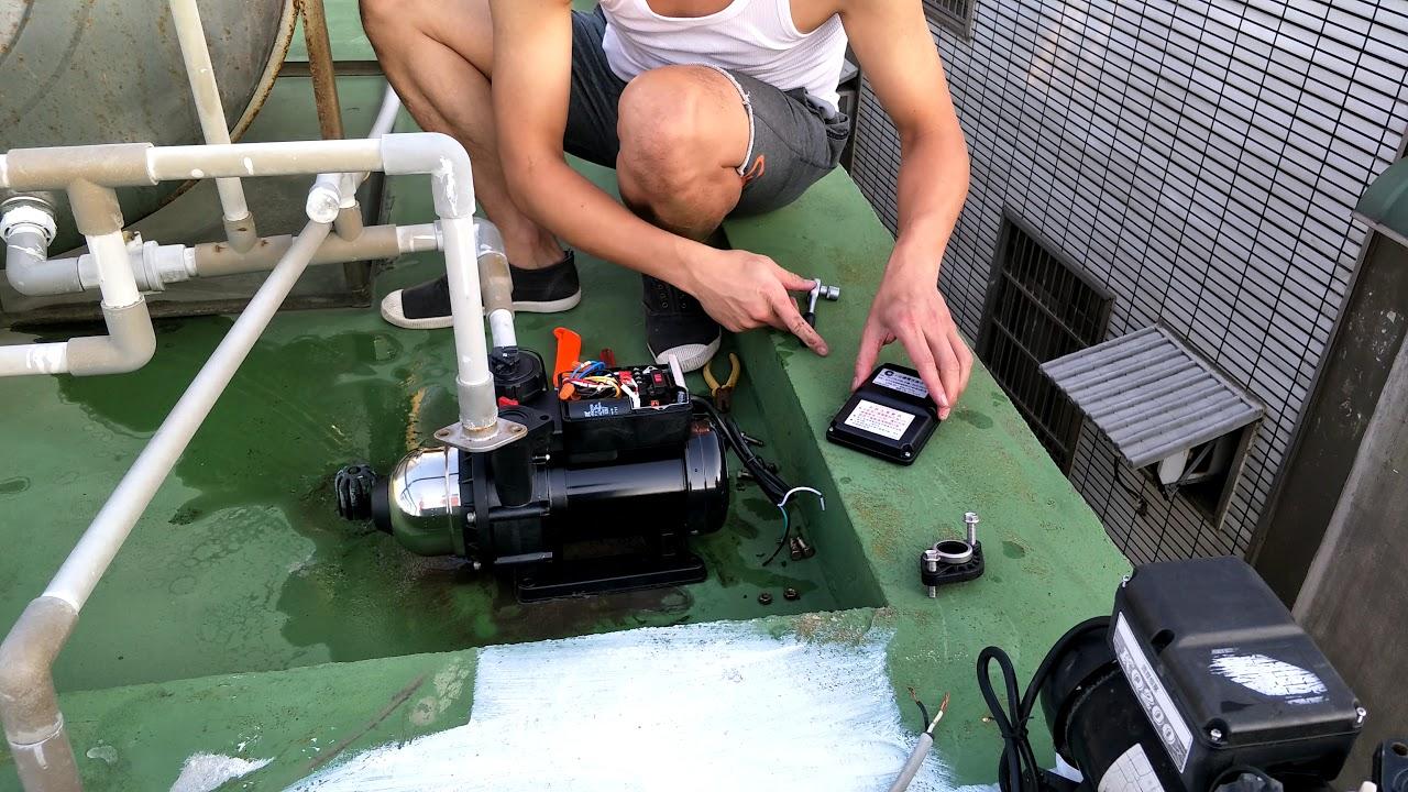 DIY 加壓馬達更換木川 - KQ200N (20170916) - YouTube