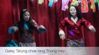 Bhutanese Dance  By Kinley Om And Tandii Thinley Wangmo New York USA