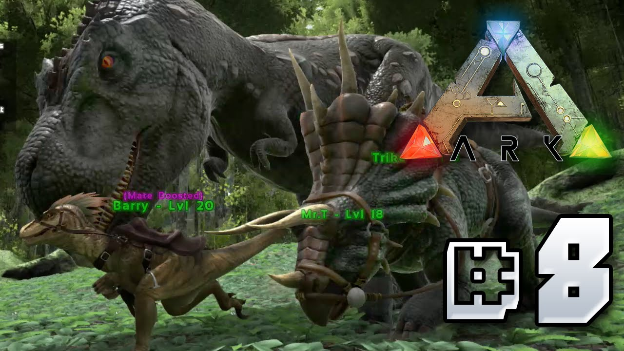 Tamming a Trex  Ark Survival Evolved  Ep 8  YouTube