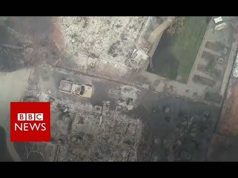 California wildfires: Drone footage shows Paradise devastation - BBC News Mp3