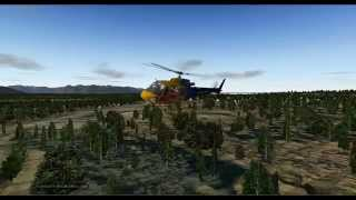 AS350 B3+ very low flight in Anchorage