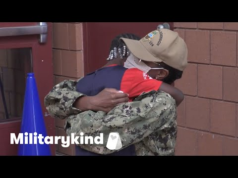Mom and daughter sob with joy after 17 months apart   Militarykind