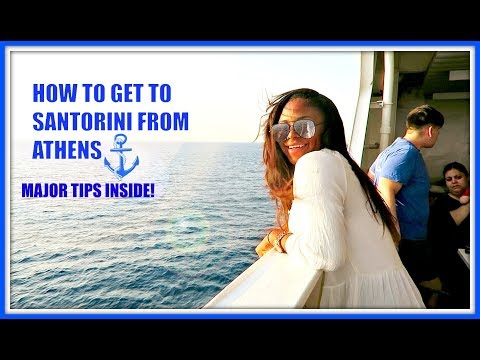 HOW TO GET TO SANTORINI GREECE FROM ATHENS | TRAVEL WITH ME TO SANTORINI | JUST NAKITA VLOGS