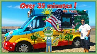 Gecko meets an Ice Cream Truck and more Trucks for Children | Gecko's Real Vehicles