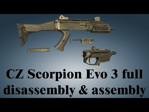 CZ Scorpion Evo 3: full disassembly & assembly