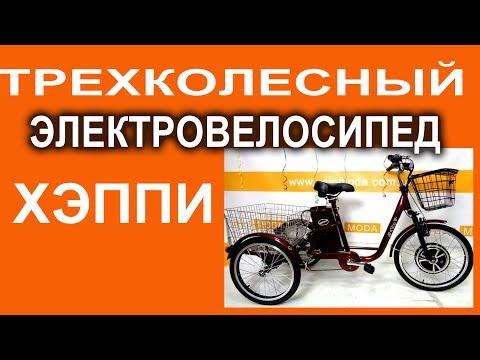 Трехколесный электрический велосипед Happy 36V 350W