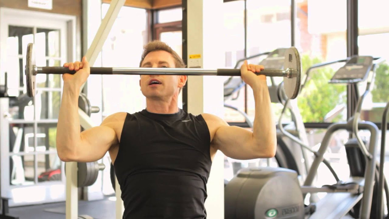 Proper Seated Barbell Shoulder-Press Technique : Fitness ...