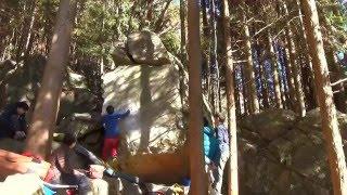 2016/1/16 人気も納得の面白い岩。 小生が登る直前にわざわざブラッシン...