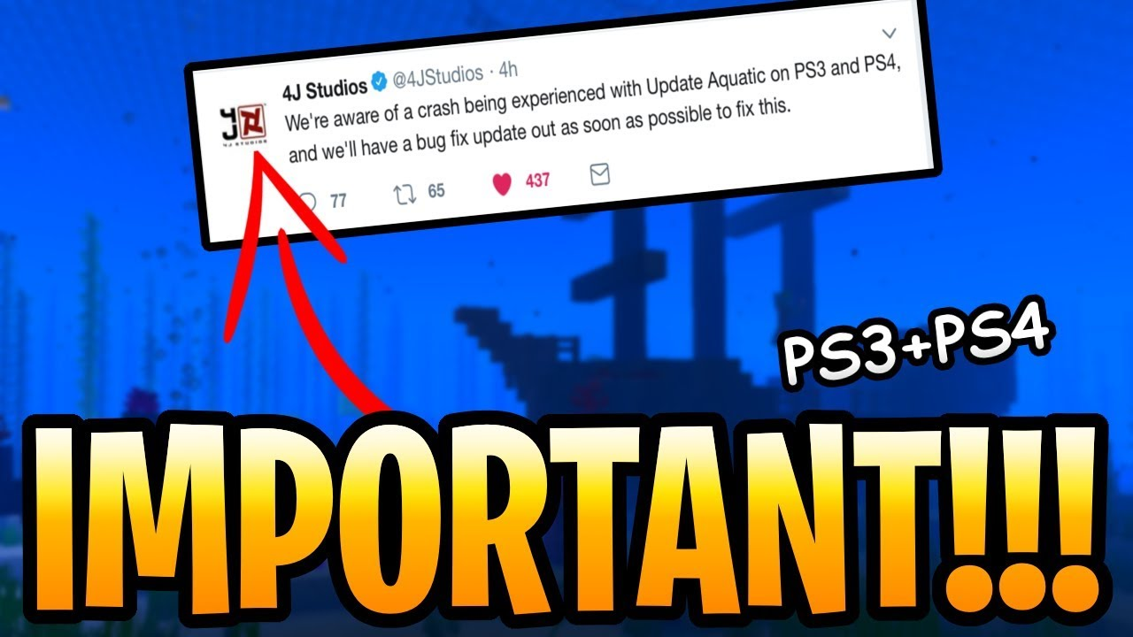 Minecraft Update Aquatic PS3 & PS4 Bug Fix Coming! Important Patch For  Corrupted Seeds & Crash!