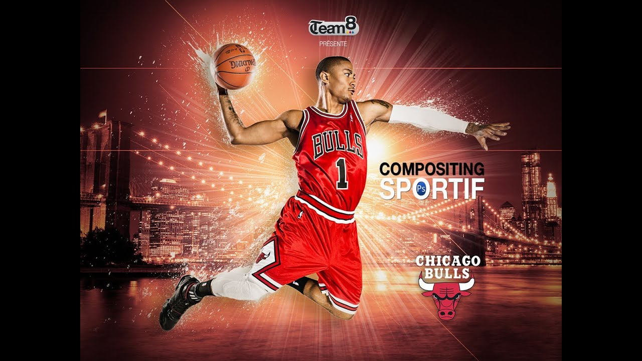 tutoriel photoshop tuto affiche basketball cr er une affiche ou un fond d 39 cran avec. Black Bedroom Furniture Sets. Home Design Ideas