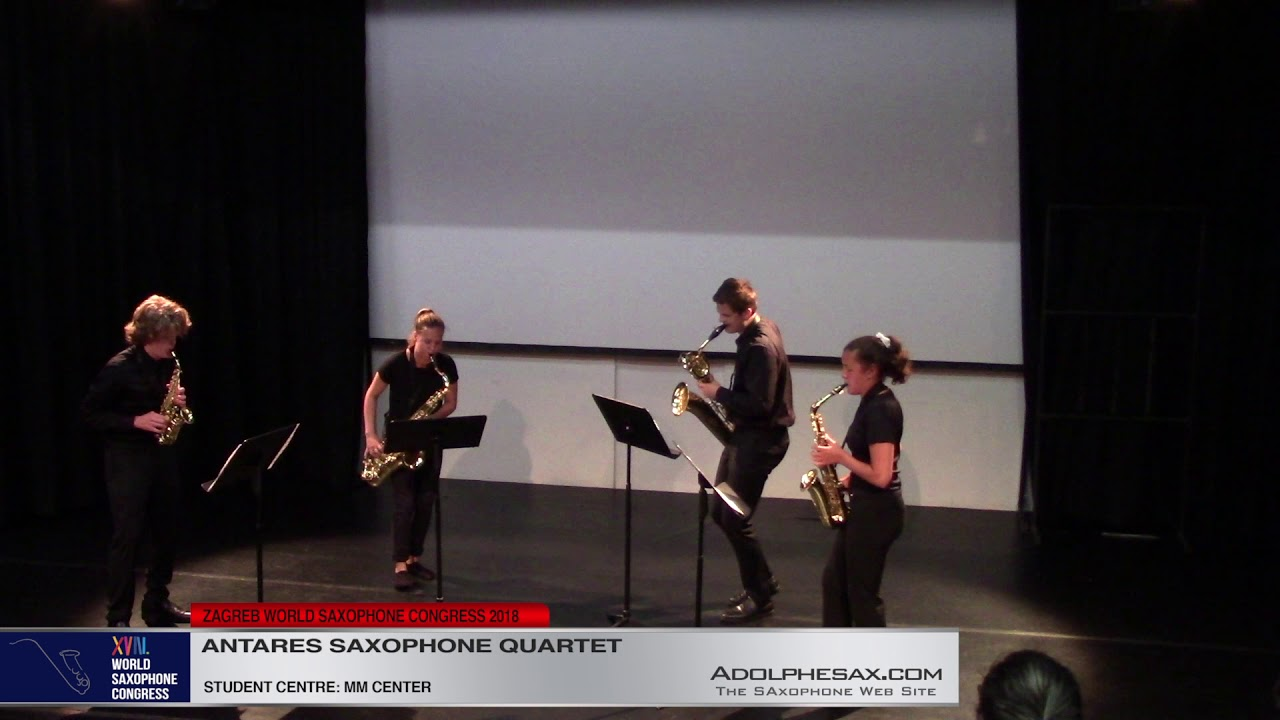 Drastic Measures 2nd Mov by Russel Peck    Antares Saxophone Quartet   XVIII World Sax Congress 2018