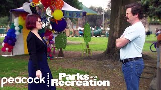 Tammy II Tries to Tempt Ron Swanson in Front of Diane - Parks and Recreation