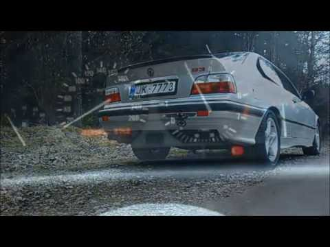 BMW 318is, E36 coupe, M42, ALPINA styling. Exhaust sound.