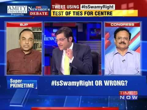 The Newshour Debate: Is Subramanian Swamy Right - Part 1 (4th Nov 2014)