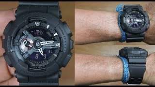 CASIO G-SHOCK GA-110MB-1A ALL BLACK - UNBOXING