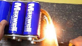 Maxwell 3000F superconductors short circuit !!! Которкое замыкание конденсаторов Максвелл 3000F!!!