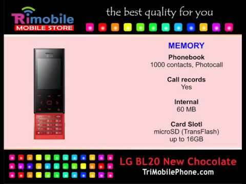 LG BL20 New Chocolate Mobile Phone Specification, Features and Slide show