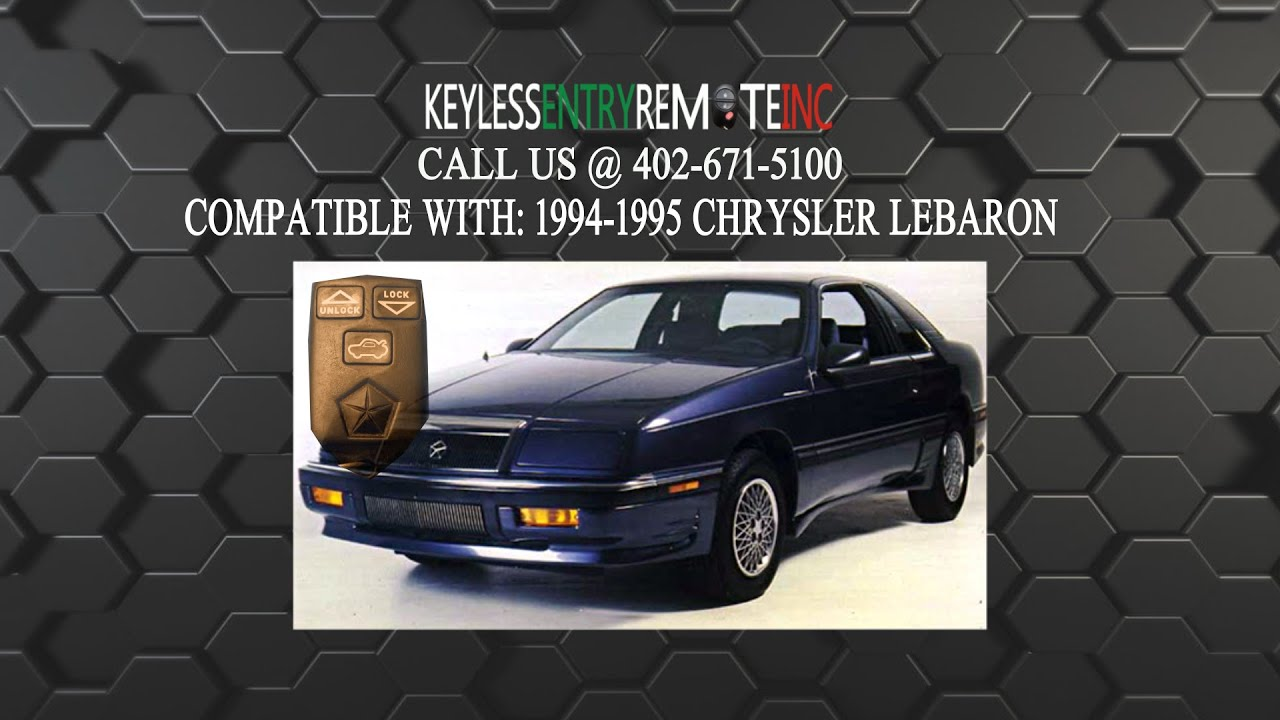 How To Replace Chrysler Lebaron Key Fob Battery 1994 1995
