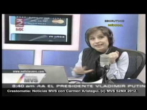 Carmen Aristegui: Seguimiento del Caso Monex, ultima Investigación sobre EFRA  y el caso Aquino.