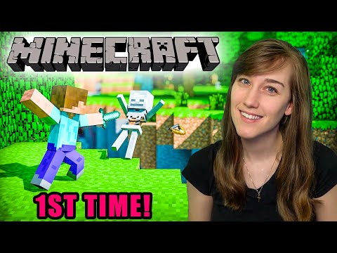 My First Time EVER Playing Minecraft!