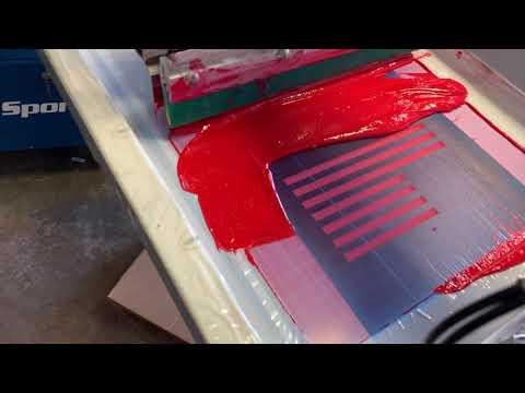 Screen Printing American Flag Shirts