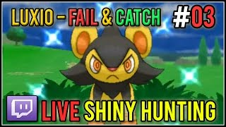 [Live] Shiny Luxio Fail & Catch | Live Shiny Hunt #03 | Pokemon X/Y