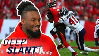 Houston texans linebacker, zach cunningham, tells deepi sidhu who he thinks the toughest opponent has been and reminisces on all linebacker's costumes an...