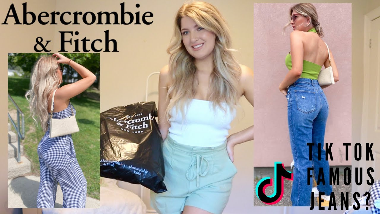 ABERCROMBIE AND FITCH TRY ON HAUL// SUMMER 2021 (90's Jeans, swimwear, Dresses + more!!)