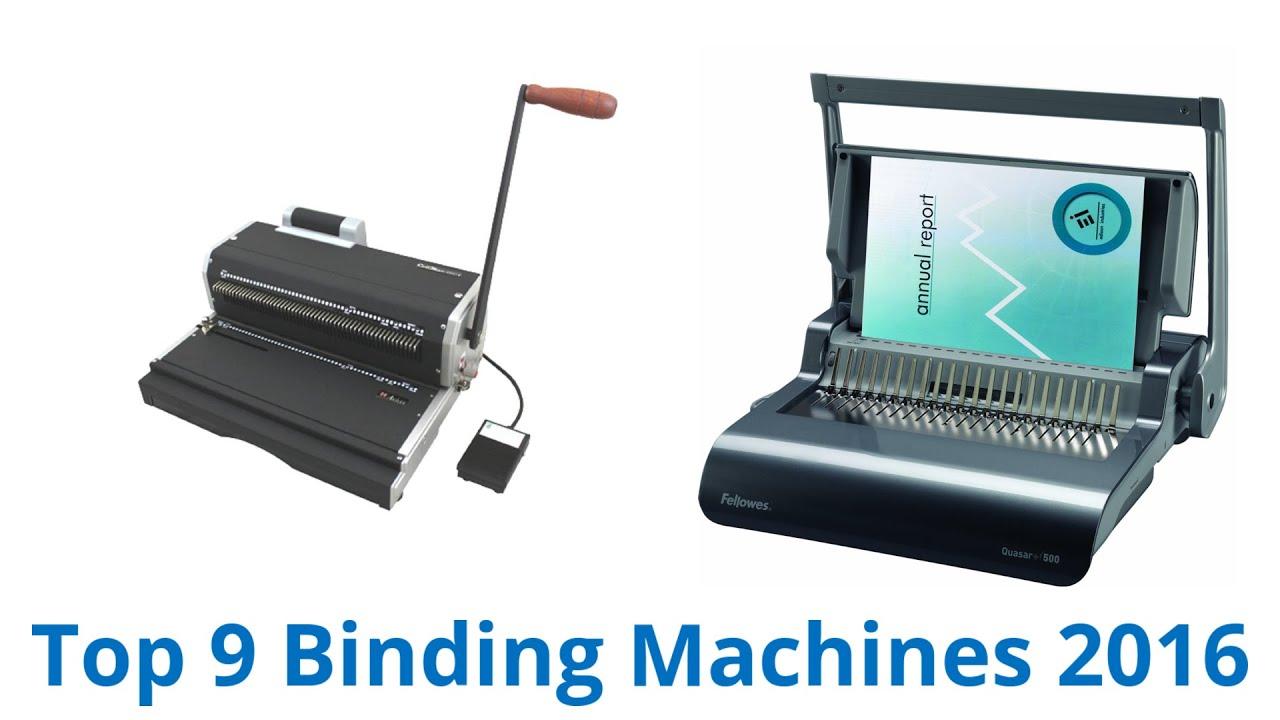 9 Best Binding Machines 2016 - YouTube