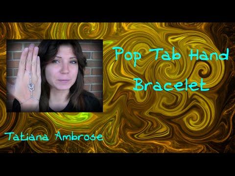 DIY  Hand and Ring Pop Tab Bracelet Tutorial