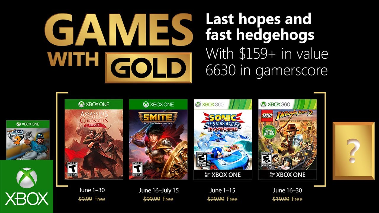 Xbox Live Games With Gold For June 2018