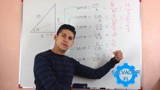 Encontrar las Funciones Trigonométricas Dados los Lados de un Triángulo Rectángulo